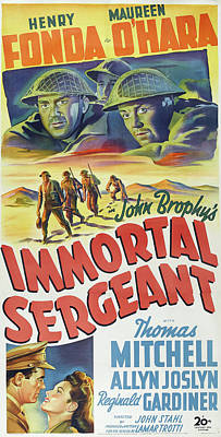 Royalty-Free and Rights-Managed Images - Immortal Sergeant, with Henry Fonda and Maureen Ohara, 1943 by Stars on Art