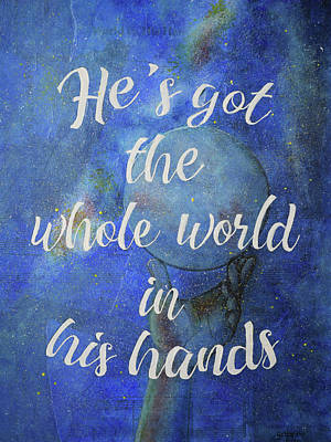Mixed Media - In His Hands by Yobeth Puckett