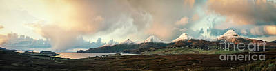 Firefighter Patents Royalty Free Images - In The Land Of The Golden Skye Royalty-Free Image by Evelina Kremsdorf