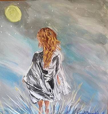 Painting - In the moon light by Laurie Rosenbaum