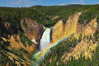 Amy Weiss - Independence Day at Yellowstone Lower Falls by Greg Norrell