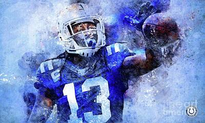 Royalty-Free and Rights-Managed Images - Indianapolis Colts NFL American Football Team, Indianapolis Colts Player,Sports Posters for Sports F by Drawspots Illustrations