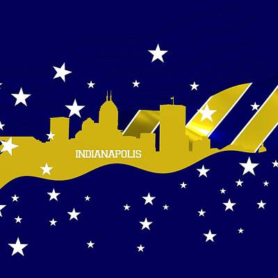 Sports Royalty-Free and Rights-Managed Images - Indianapolis skyline by Alberto RuiZ