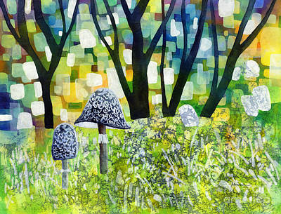 Thomas Kinkade Rights Managed Images - Indigo Mushroom Royalty-Free Image by Hailey E Herrera