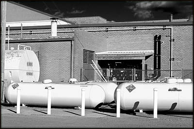 Outdoor Graphic Tees - Industrial Storage Tanks by Constance Lowery