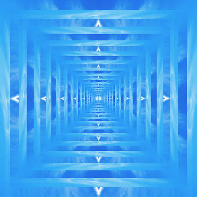 Royalty-Free and Rights-Managed Images - Infinity Tunnel Angel Wings by Pelo Blanco Photo