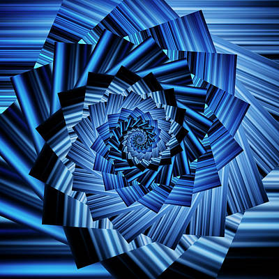 Royalty-Free and Rights-Managed Images - Infinity Tunnel Spiral Blurred Blue Lines by Pelo Blanco Photo