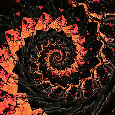 Shark Art - Infinity Tunnel Spiral Lava 4 by Pelo Blanco Photo