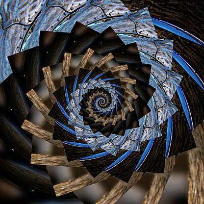 Aretha Franklin - Infinity Tunnel Spiral Salmon Waves 2 by Pelo Blanco Photo