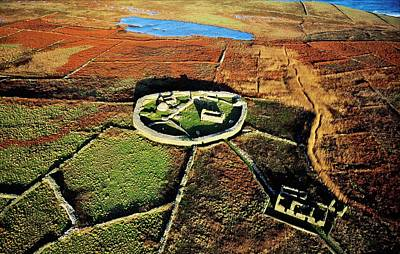 Mountain Landscape Rights Managed Images - Inishmurray island early Celtic Christian settlement. Sligo, Ireland Royalty-Free Image by David Lyons