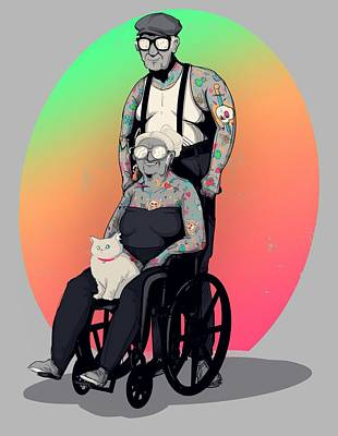 Royalty-Free and Rights-Managed Images - Inked and Elderly by Ludwig Van Bacon