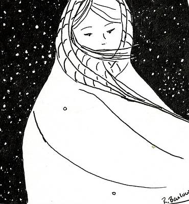 Drawing - Inktober2019 Coat by Rachel Barlow