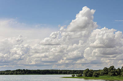 Valentines Day - Interesting cloud formation above the reservoir Lac dOrient in France by Stefan Rotter