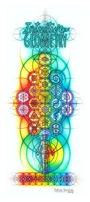 Drawing - Intuitive Geometry Banner by Nathalie Strassburg