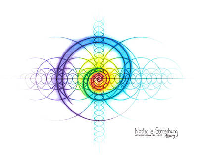 Drawing - Intuitive Geometry Spectrum Spiral by Nathalie Strassburg
