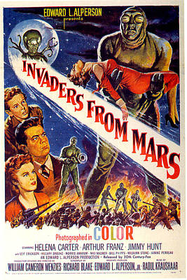 Mixed Media Royalty Free Images - Invaders From Mars poster 1953 Royalty-Free Image by Stars on Art
