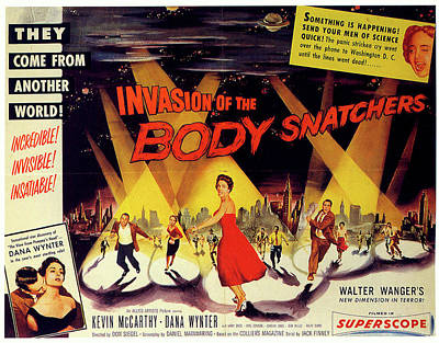 Mixed Media Royalty Free Images - Invasion of the Body Snatchers movie poster 1956 Royalty-Free Image by Stars on Art