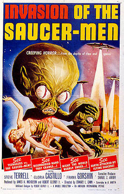 Royalty-Free and Rights-Managed Images - Invasion of the Saucer-Men poster by Stars on Art
