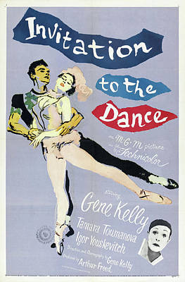 Typography Tees - Invitation to the Dance, with Gene Kelly, 1956 by Stars on Art