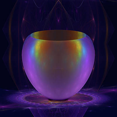 Jodi Diliberto Royalty-Free and Rights-Managed Images - Iridescent Vase by Jodi DiLiberto