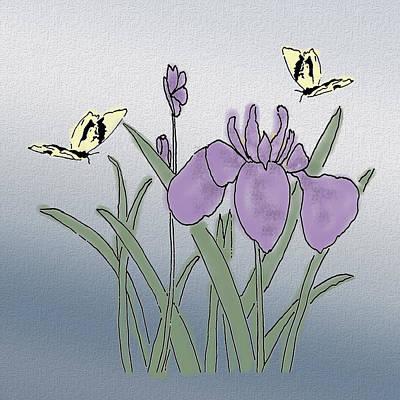 Belinda Landtroop Mixed Media - Iris Dawn by Belinda Landtroop
