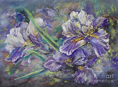 Painting - Iris Garden by Ryn Shell