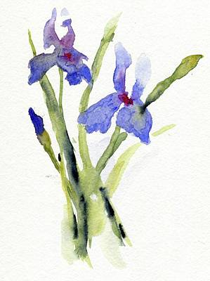 Painting - Irises by Andrea Rubinstein