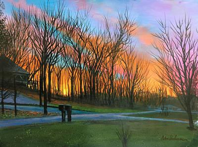 Painting - Irish Hills Sunset by Robert Korhonen