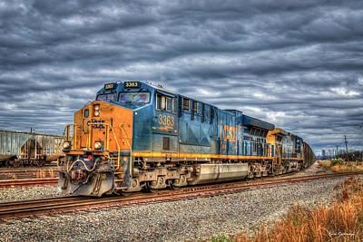 Studio Grafika Science - Iron Age Rolls On CSX Locomotive 3363 Train Art  by Reid Callaway