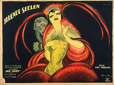 Mixed Media Royalty Free Images - Irrende Seelen, German poster, 1921 Royalty-Free Image by Stars on Art