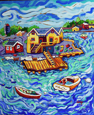 Painting - Island Harbor by Cathy Carey
