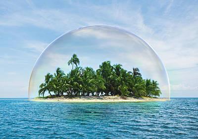 Surrealism Digital Art - Island Nature Preservation by Barroa Artworks