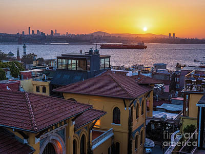 Royalty-Free and Rights-Managed Images - Istanbul Bosphorus Sunrise by Mike Reid