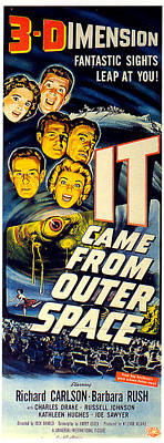 Beach House Signs - It Came From Outer Space poster 1953 by Stars on Art