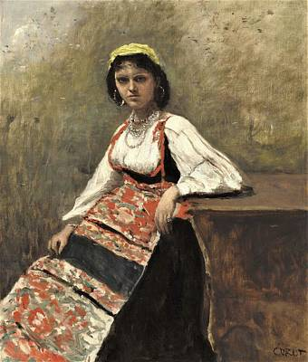 Caravaggio - Italian woman by Roberto Prusso
