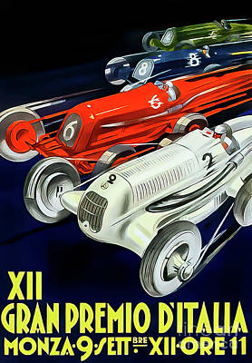 Drawings Royalty Free Images - Italy 1934 Grand Prix by Todognato Royalty-Free Image by M G Whittingham