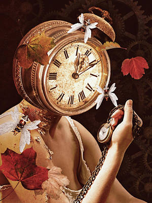 Surrealism Royalty-Free and Rights-Managed Images - Its getting late by Mihaela Pater