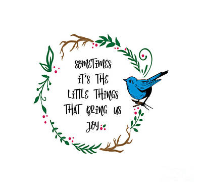 Watercolor Typographic Countries - Its the Little Things by Laurie Clayton