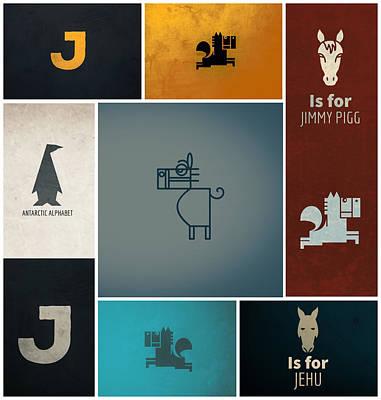 Digital Art - J is For Jehu And Jimmy Pigg Too by No Alphabet