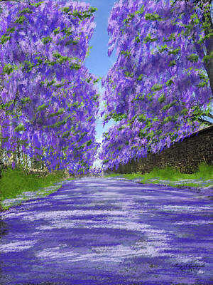 Ballerina Art - Jacaranda Lane by Gary F Richards
