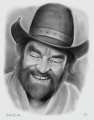 Drawings Royalty Free Images - Jack Elam - Pencil Royalty-Free Image by Greg Joens