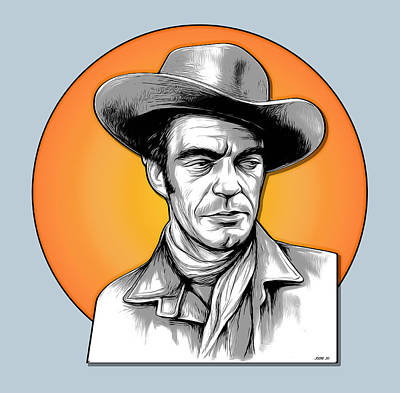 Royalty-Free and Rights-Managed Images - Jack Elam Pop Art by Greg Joens