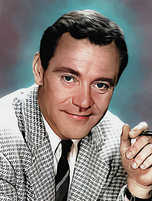 Royalty-Free and Rights-Managed Images - Jack Lemmon illustration by Stars on Art