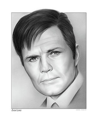 Drawings Rights Managed Images - Jack Lord Royalty-Free Image by Greg Joens