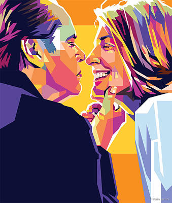 Royalty-Free and Rights-Managed Images - Jack Nicholson and Diane Keaton by Stars on Art