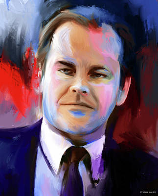 Actors Royalty-Free and Rights-Managed Images - Jack Nicholson painting by Stars on Art
