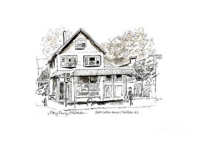 Drawing - JAM Coffee House by Mary Kunz Goldman