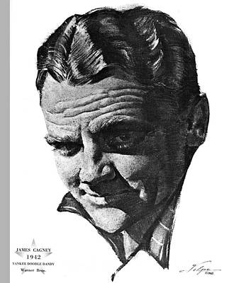 Drawings Royalty Free Images - James Cagney 2 by Volpe Royalty-Free Image by Stars on Art