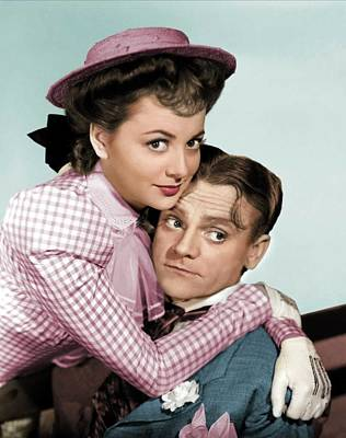 Royalty-Free and Rights-Managed Images - James Cagney and Olivia de Havilland by Stars on Art