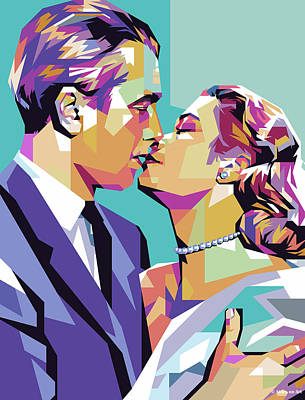 Royalty-Free and Rights-Managed Images - James Stewart and Grace Kelly by Stars on Art